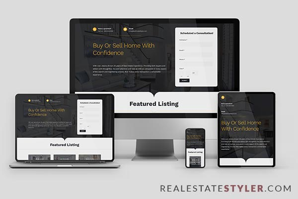 "Premier - Best Real Estate ""Agent Website"" Demo by RealEstateStyler.com"