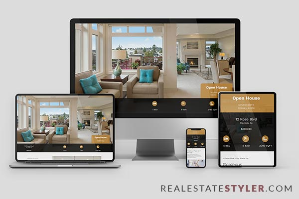 "Rose Cottage - Best Real Estate ""Single Property Site"" Demo by RealEstateStyler.com"