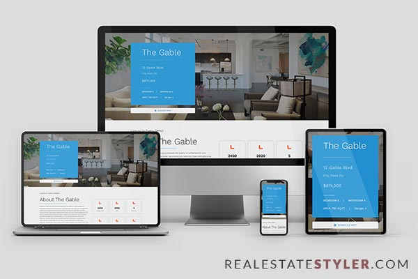 """The Gable - Best Real Estate """"Single Property Site"""" Demo by RealEstateStyler.com"""